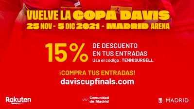 Descuentos en las entradas de la Copa Davis 2021 para nuestros socios