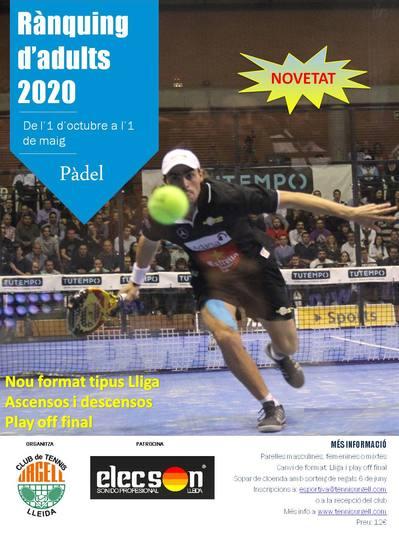 RÀNQUING DE PÀDEL 2020