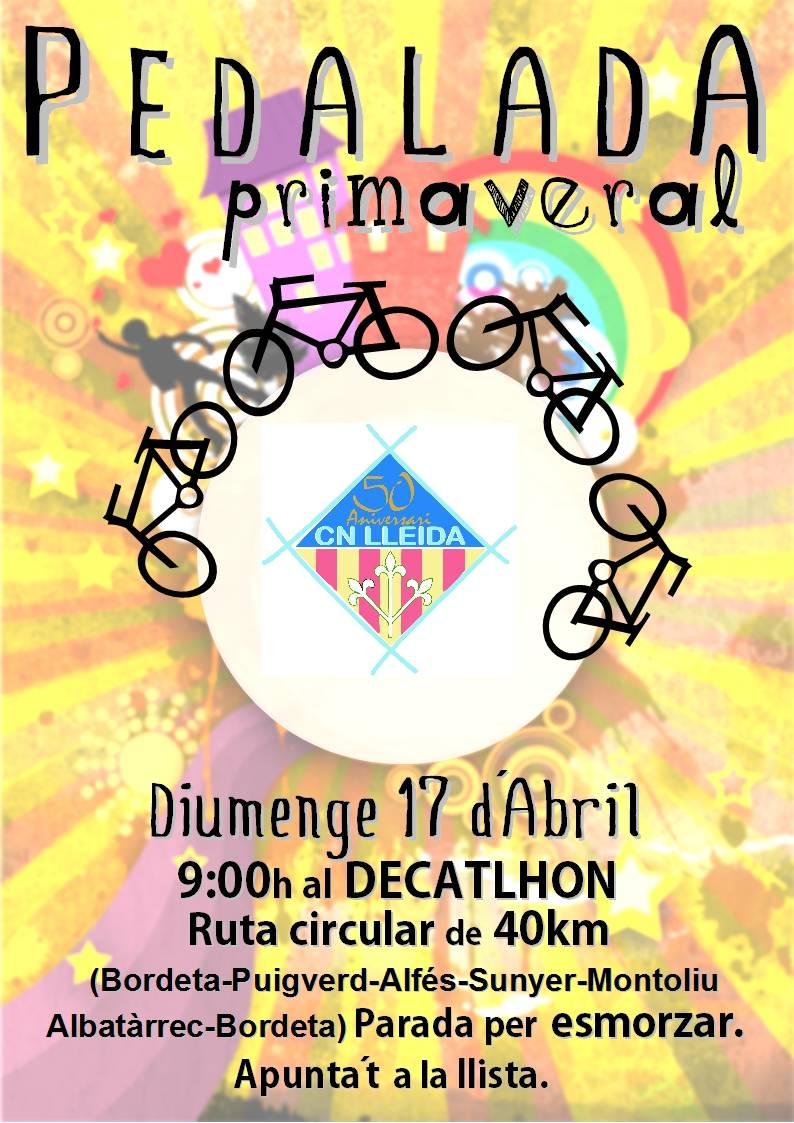 PEDALEADA PRIMAVERAL DOMINGO 17 DE ABRIL