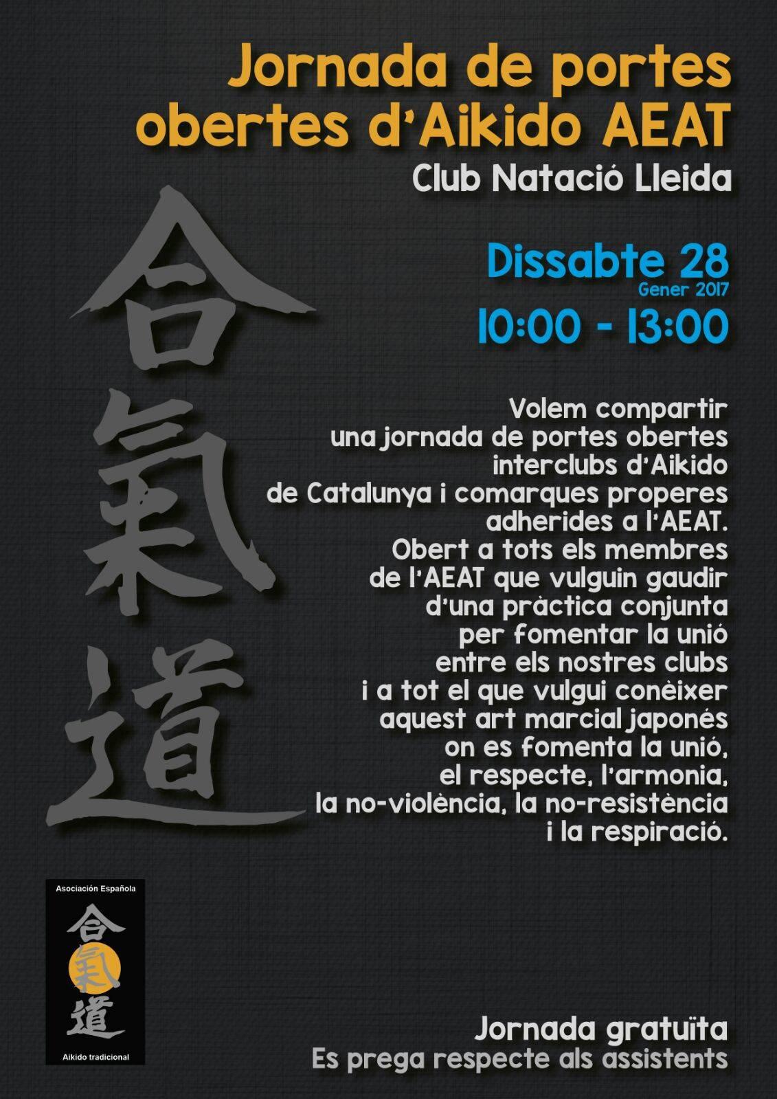 Jornada de portes obertes d'Aikido al Club Natació Lleida
