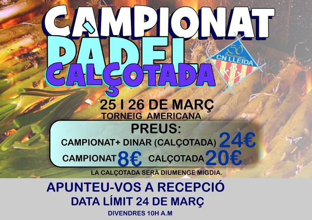 TORNEIG CALÇOTADA C.N. LLEIDA