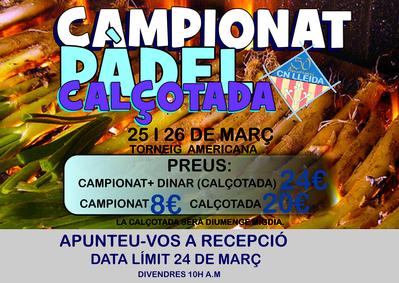 Campionat Pàdel Calçotada