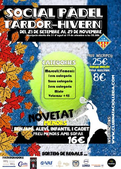 Social Pádel Otoño Invierno CN Lleida