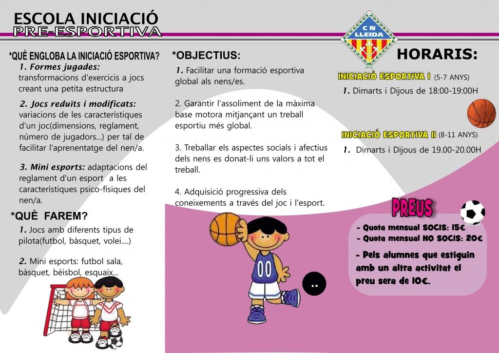 ESCOLA INICIACIÓ PRE-ESPORTIVA 2014