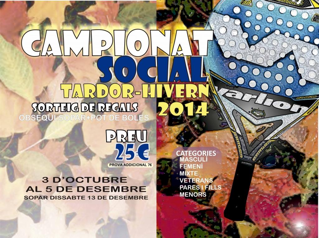 QUADRES CAMPIONAT SOCIAL TARDOR-HIVERN 2014