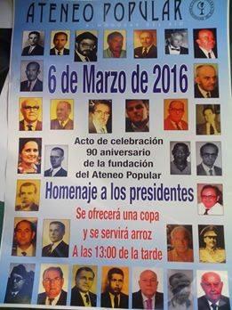 90-летний юбилей Ateneo Популярные де Альмодовар-дель-Рио