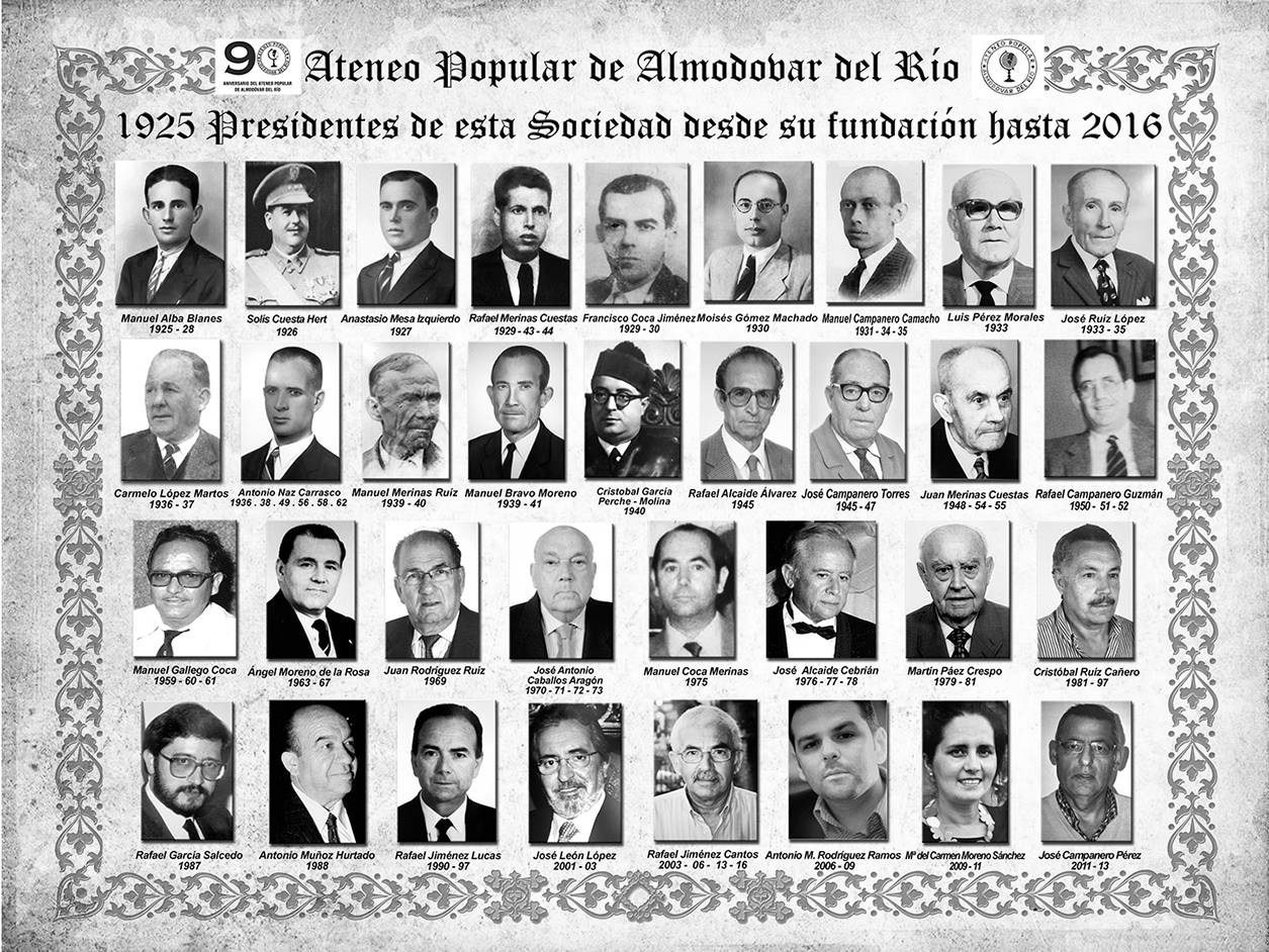 8.- Presidentes del Ateneo Popular.