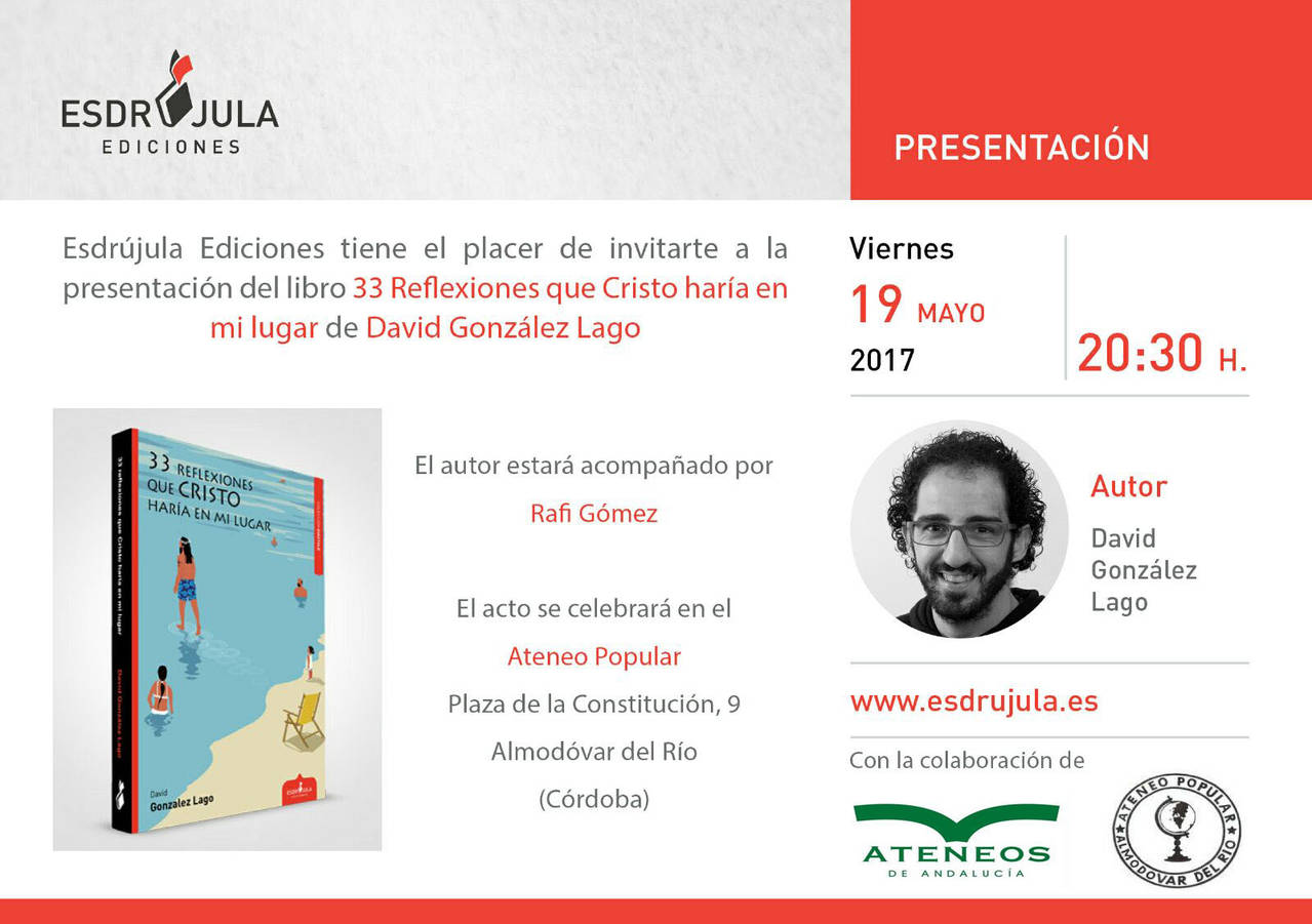 "Presentation of the book ""33 Reflections that Christ would make in my place"""