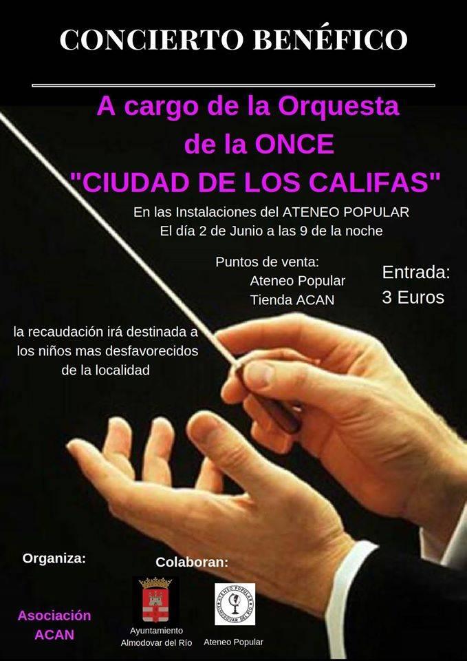 """Concierto Benéfico a cargo de la Orquesta de la Once """"Ciudad de los Califas"""""""
