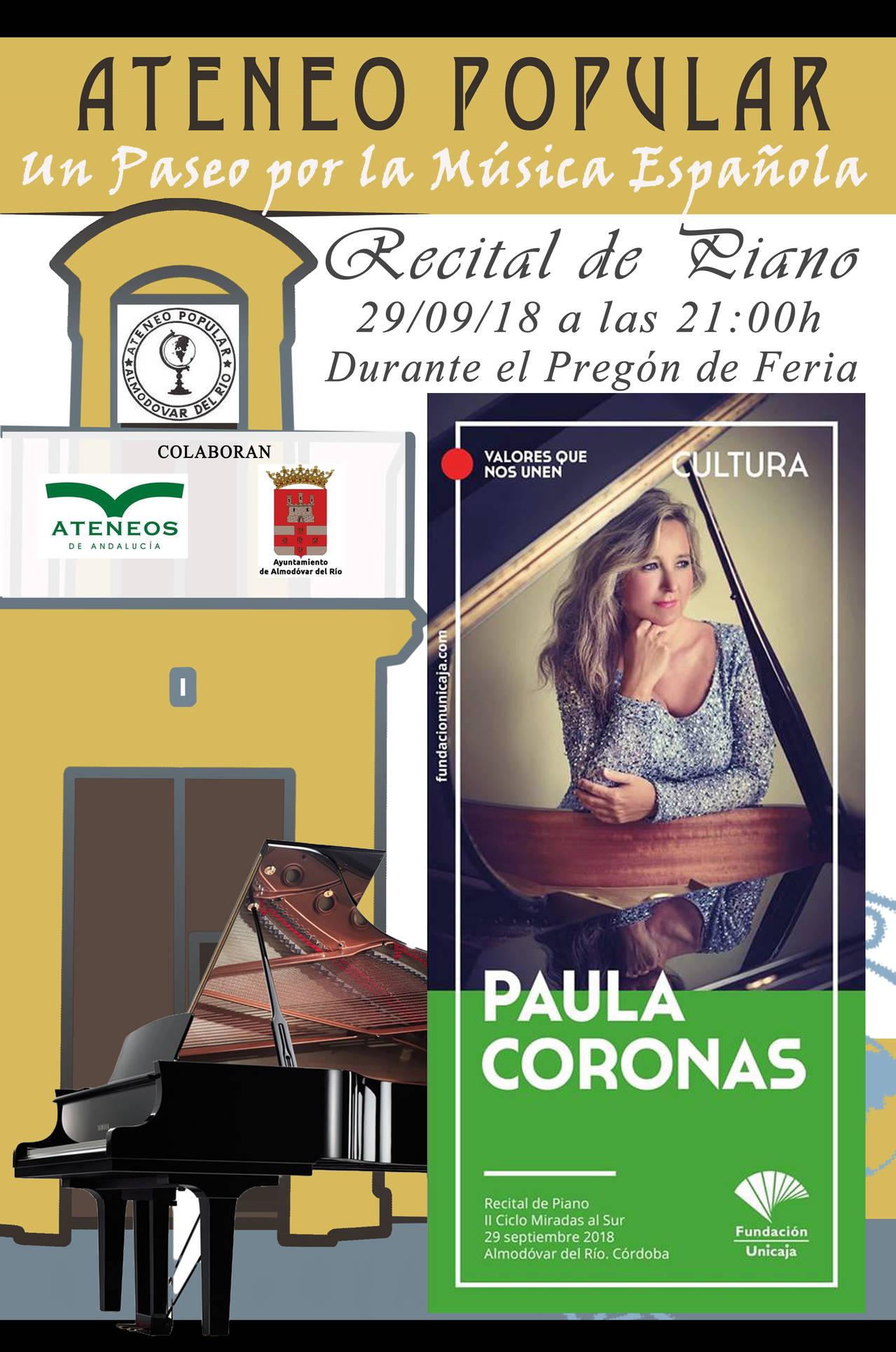 """Recital de Piano """"Un Paseo por la Música Española"""""""