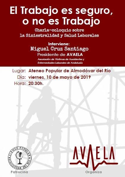 Presentación AVAELA Asociación de Víctimas de Accidentes y Enfermedades Labolares de Andalucía.