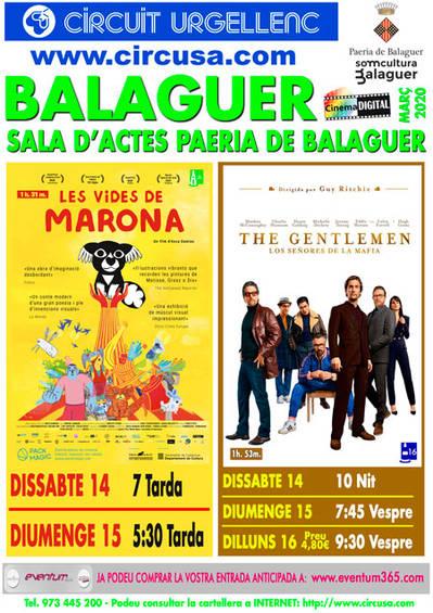 CINEMA MARÇ 14, 15 i 16