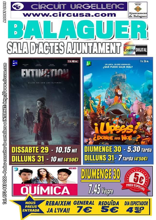 CINEMA 29, 30 i 31 EXTINCTION - ¡UPSSS! ¿DÓNDE ESTÁ NOE...? - SOLO QUÍMICA