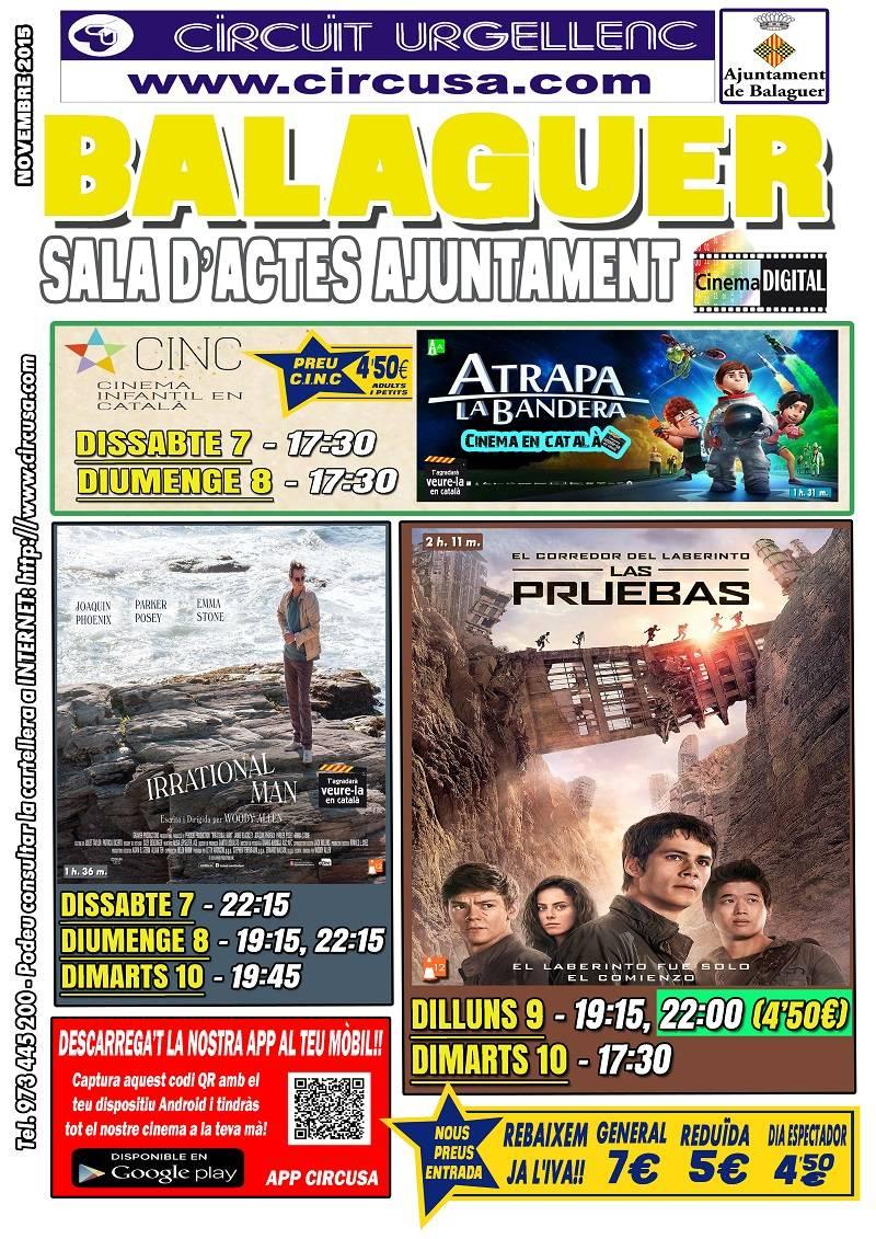 CINEMA NOVEMBRE 7, 8, 9, i 10 - EL CORREDOR DEL LABERINTO: LAS PRUEBAS -  IRRATIONAL MAN