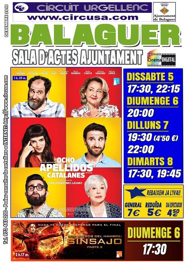 CINEMA DESEMBRE 5, 6, 7 i 8 - 8 APELLIDOS CATALANES