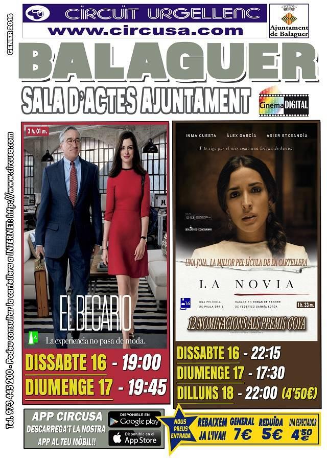 CINE ENERO 16, 17 y 18 - EL BECARIO - LA NOVIA