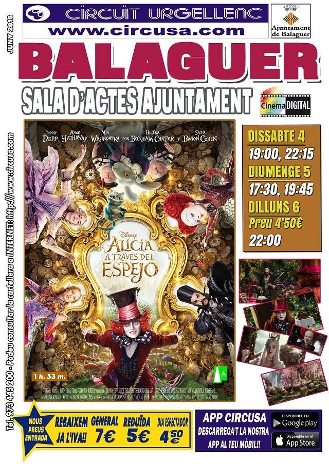 CINEMA JUNY 4, 5 i 6 - ALICIA A TRAVÉS DEL ESPEJO