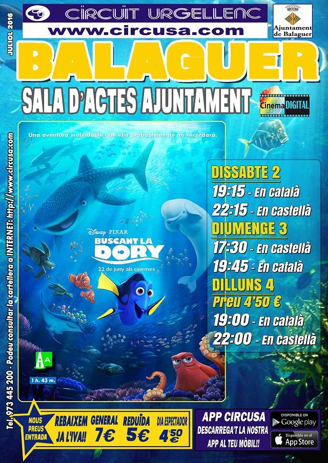 CINEMA JULIOL 2, 3 i 4 - BUSCANT LA DORY