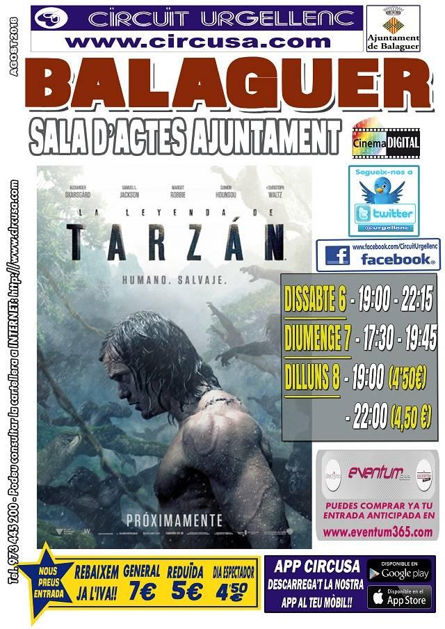 CINEMA AGOST 6, 7 i 8 - LA LEYENDA DE TARZÁN
