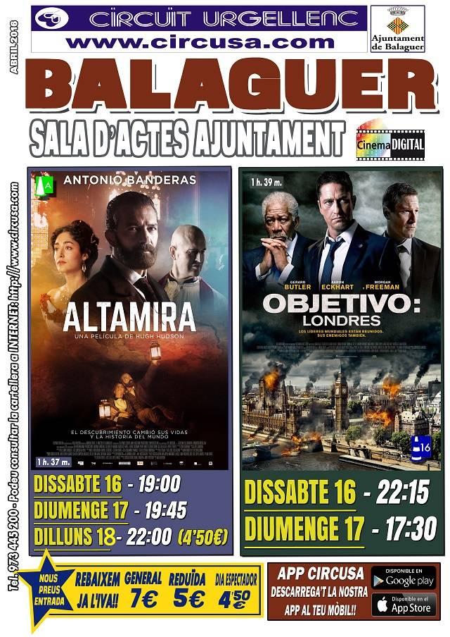 CINEMA ABRIL 16, 17 i 18 - ALTAMIRA - OBJETIVO: LONDRES