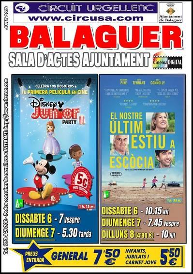Cine en Balaguer este fin de semana (Junio 6, 7)