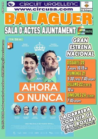 Cinema a Balaguer cap de setmana (Juny 20, 21, 22 i 24)