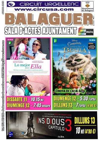 Cine este fin de semana en Balaguer (Drama, Terror, Infantil)