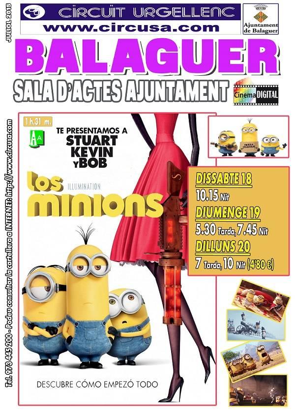 CINEMA JULIOL 18, 19 i 20 - LOS MINIONS