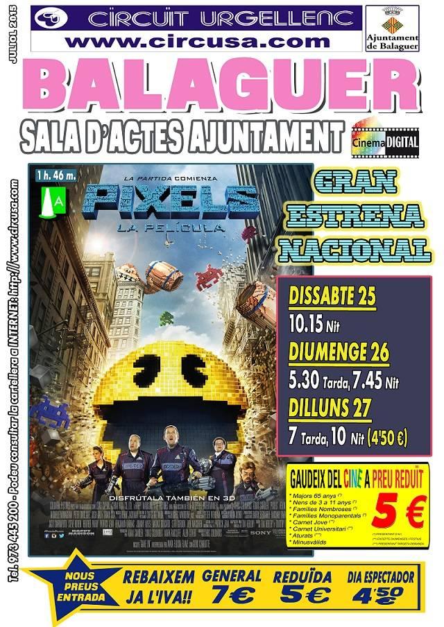 CINEMA JULIOL, 25, 26 i 27 - PIXELS