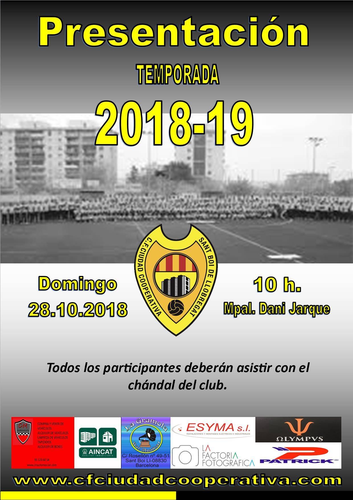 Presentación Temporada 2018/19