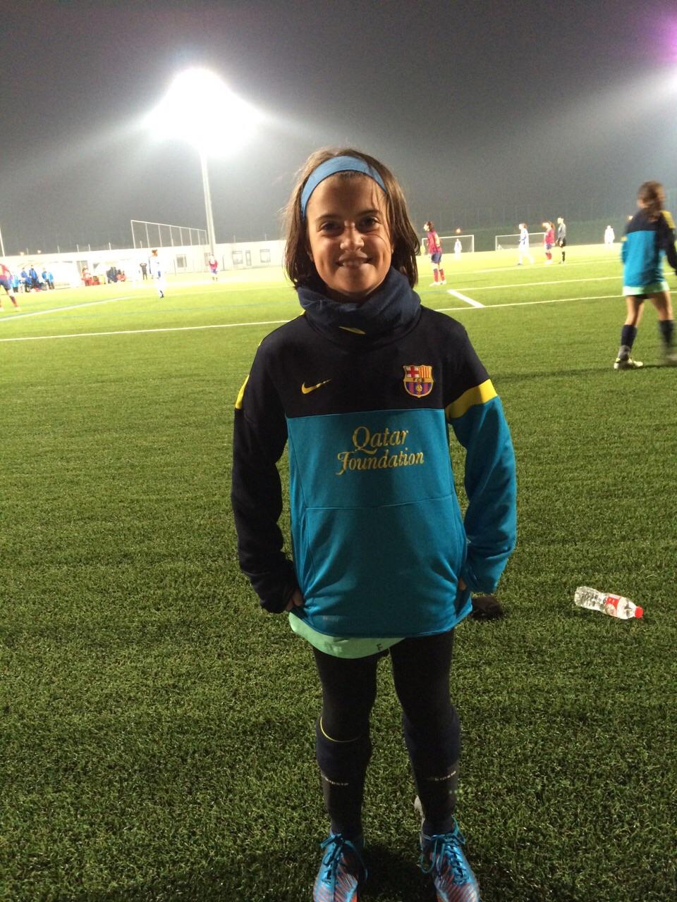 Alicia Infante con el FCB