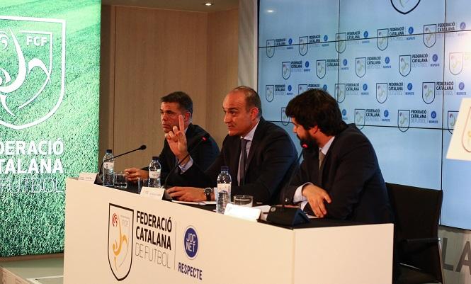 El fútbol catalán en huelga.