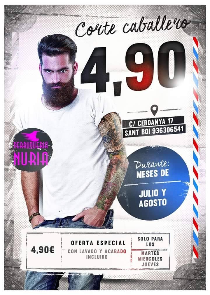 Oferta Peluquería Nuria.