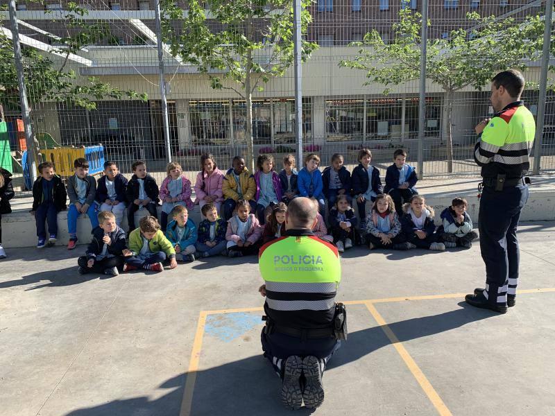 Visita de los mossos d'esquadra