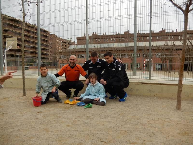 Visita jugadors Força Lleida