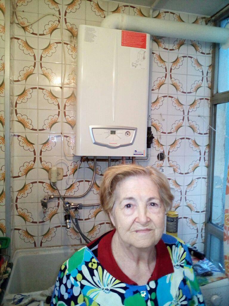 Sustitución caldera estanca a la Sra. Rosario de Igualada