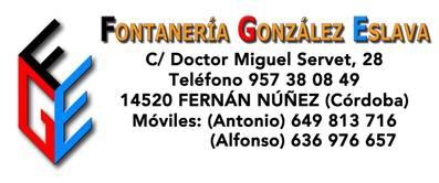 Fontanería Gonzalez Eslava