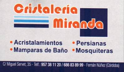Cristalería Miranda