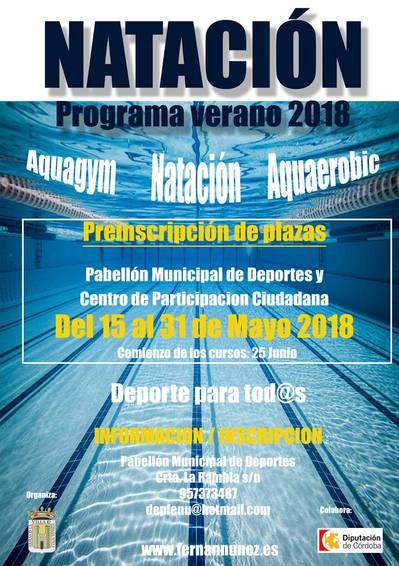 NATACIÓN - Programa verano 2018