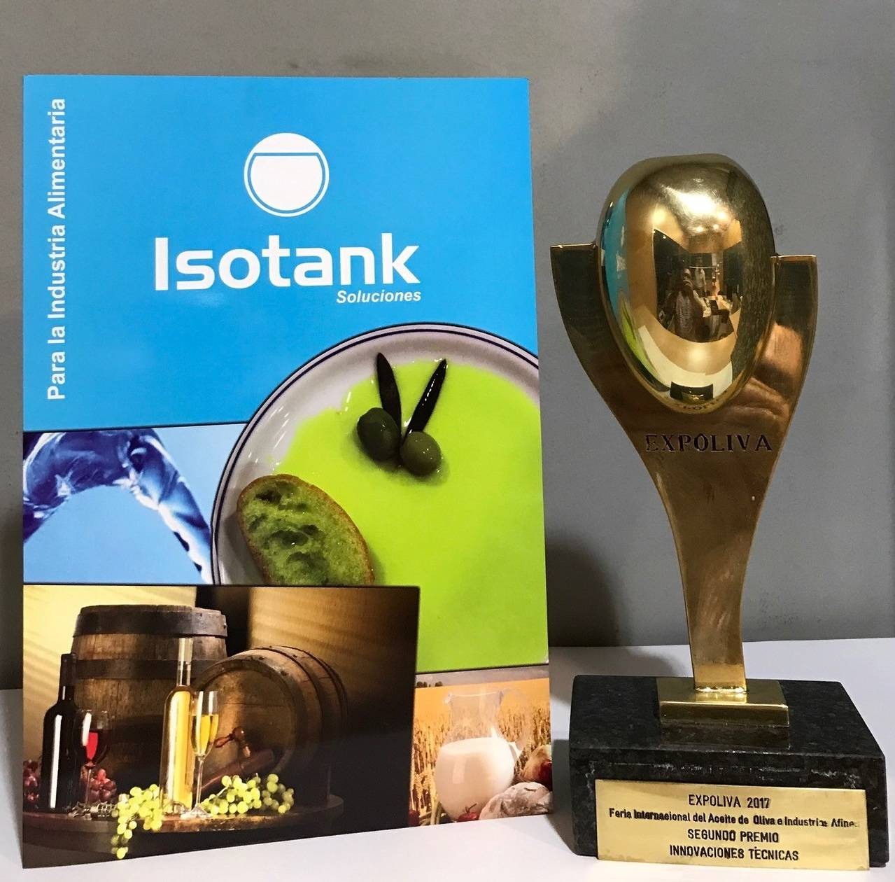 "Isotank receives the award of ""Technical Innovation Expoliva 2017"" to its system CETA"