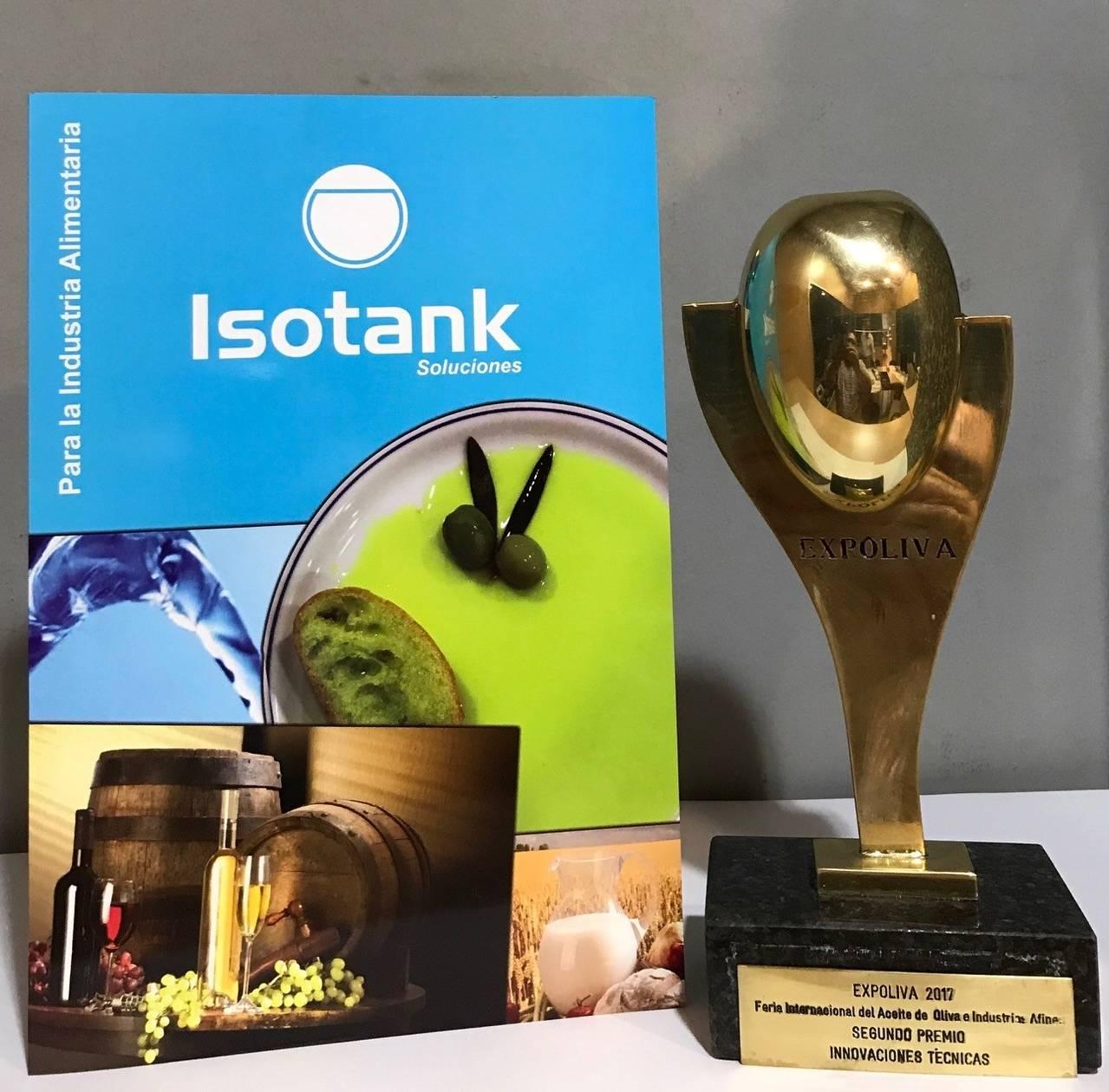 """Isotank recibe el premio de """"Innovación Técnica Expoliva 2017"""" a su sistema CETA"""