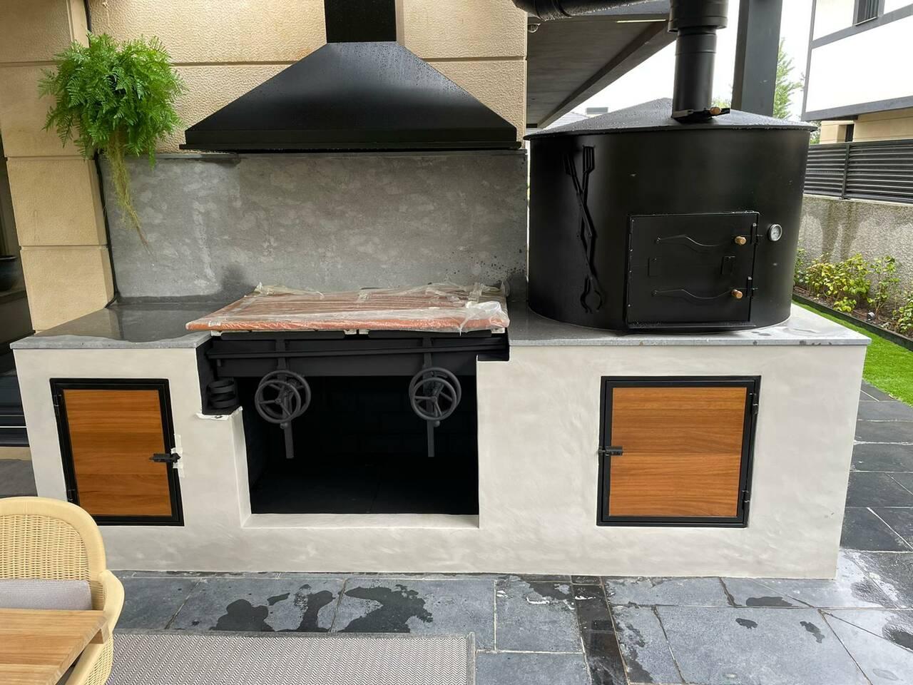 cocina en terraza/porche