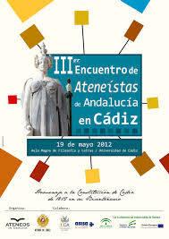 III Encuentro de Ateneos de Andalucía en Cádiz.