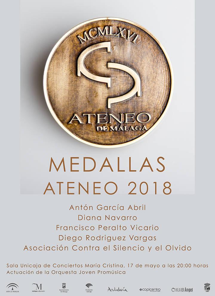 Medallas Ateneo de Málaga 2018