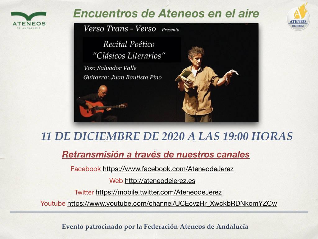 """Poetic recital """"Literary Classics"""""""