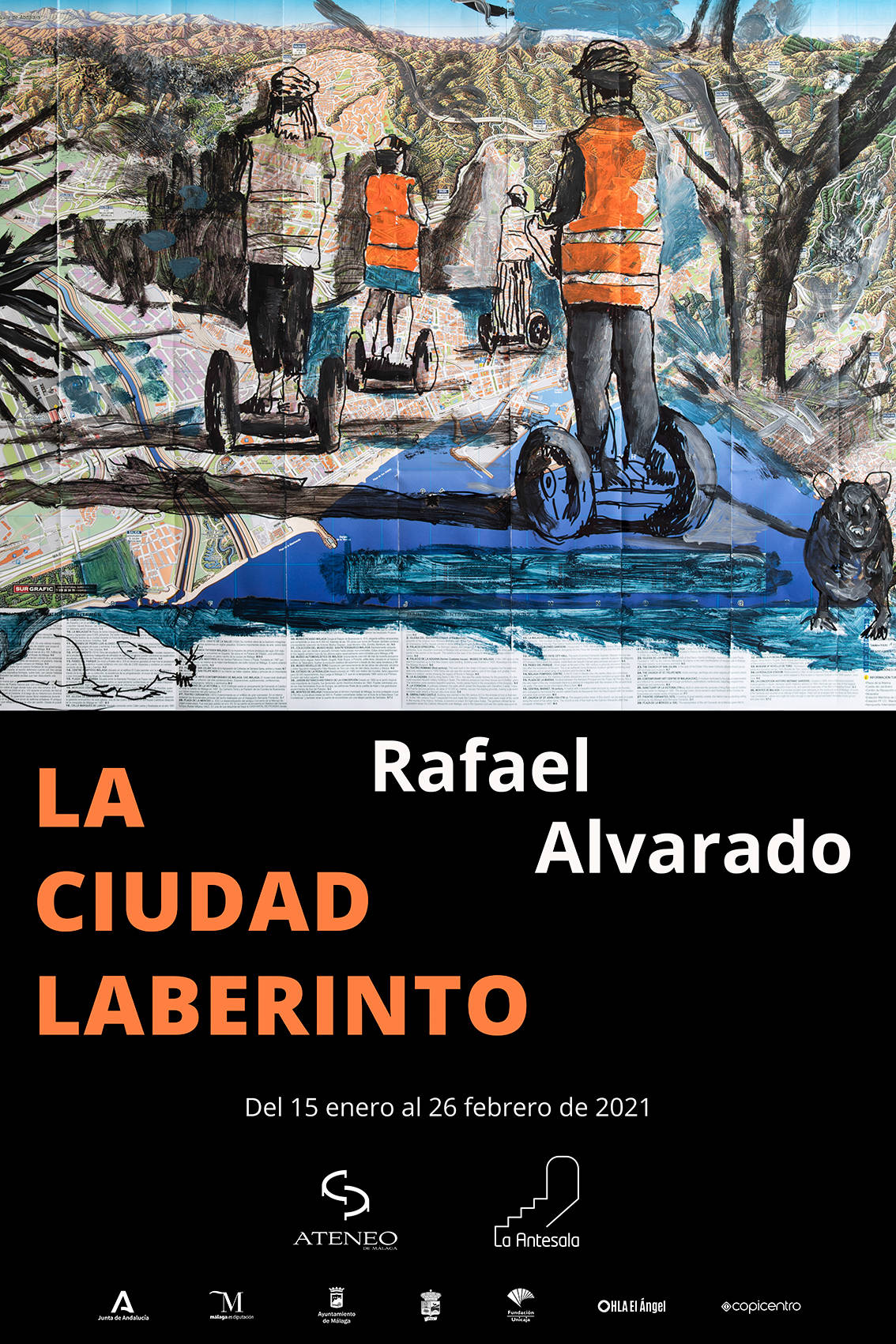 "Presentation of the exhibition ""La Ciudad Laberinto"", by Rafael Alvarado"