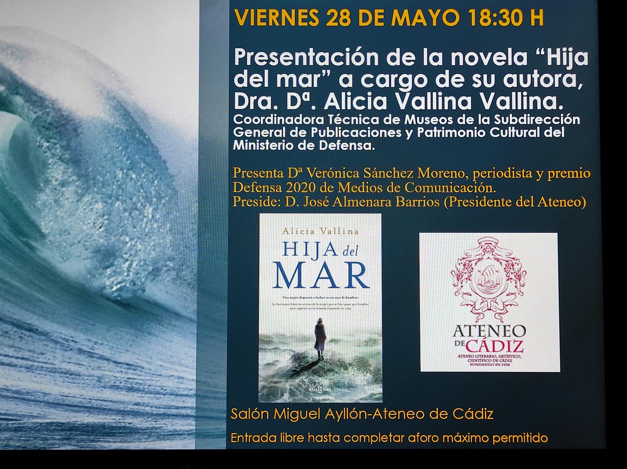 """Presentation of the novel """"Hija del mar"""""""