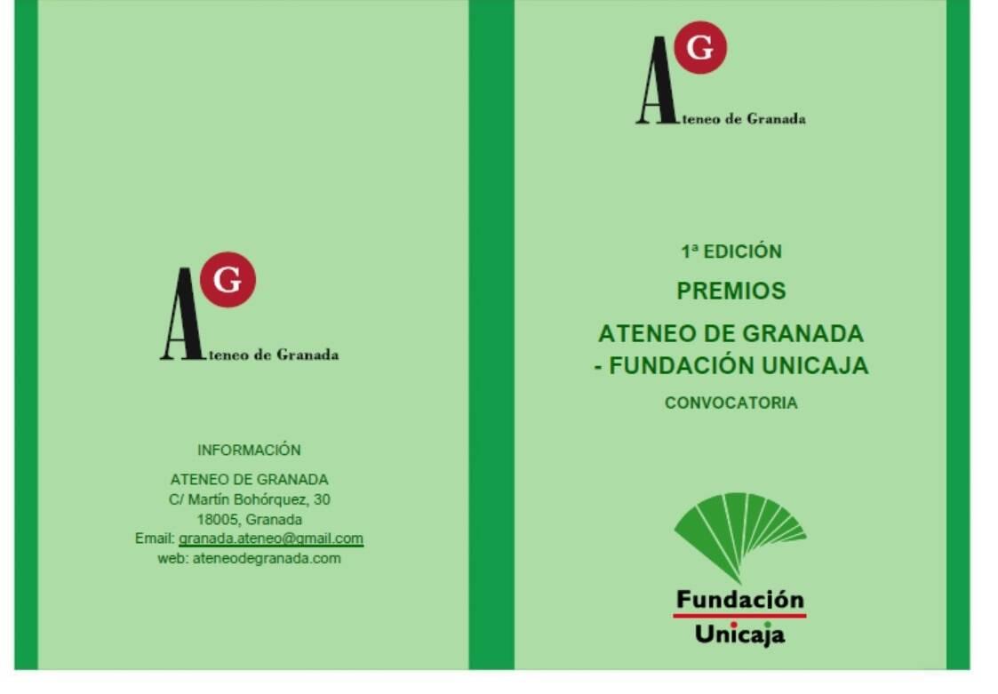 1ª edición Premios Ateneo de Granada-Fundación Unicaja
