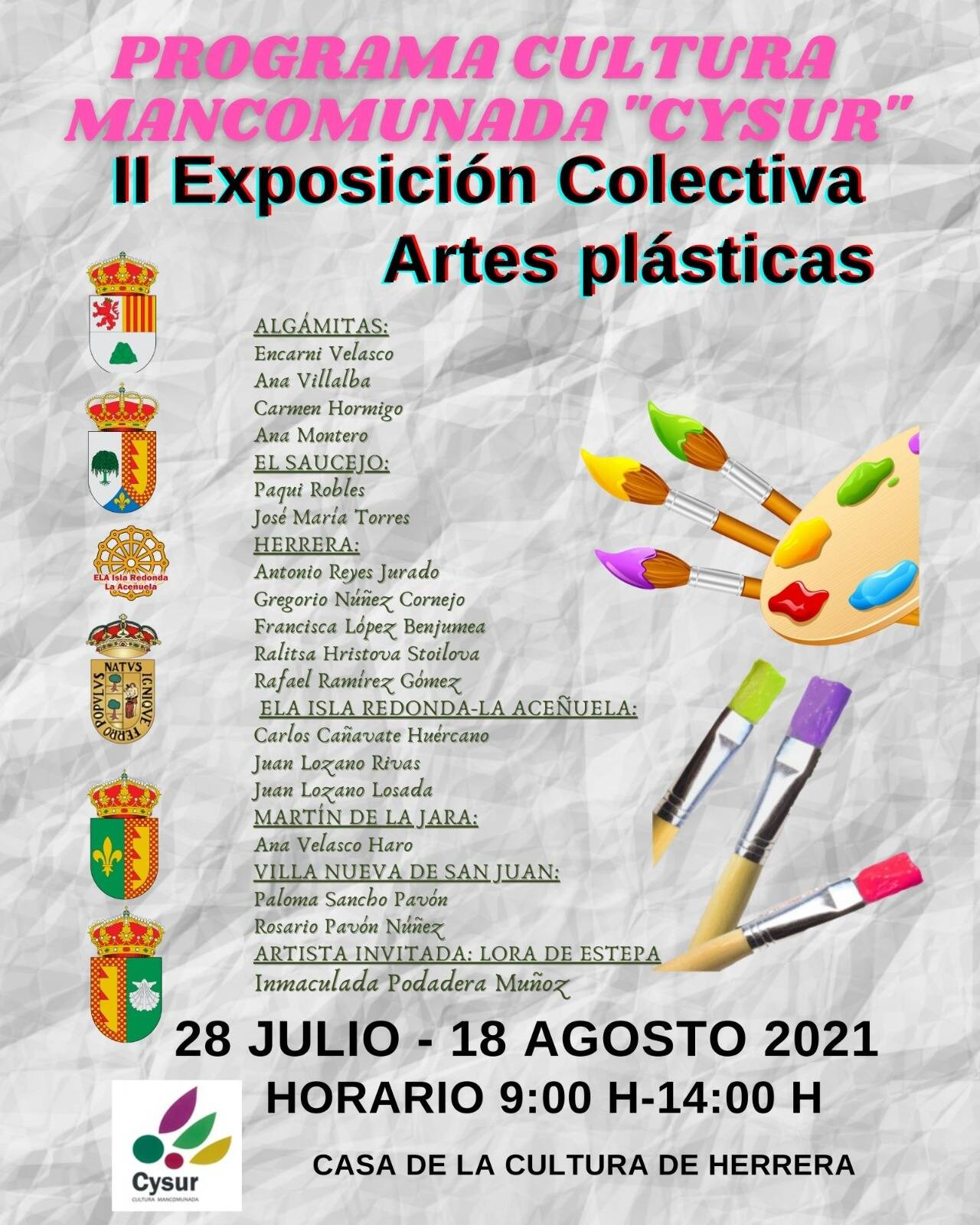 """II Exposición colectiva de Artes Plásticas """"CYSUR"""""""