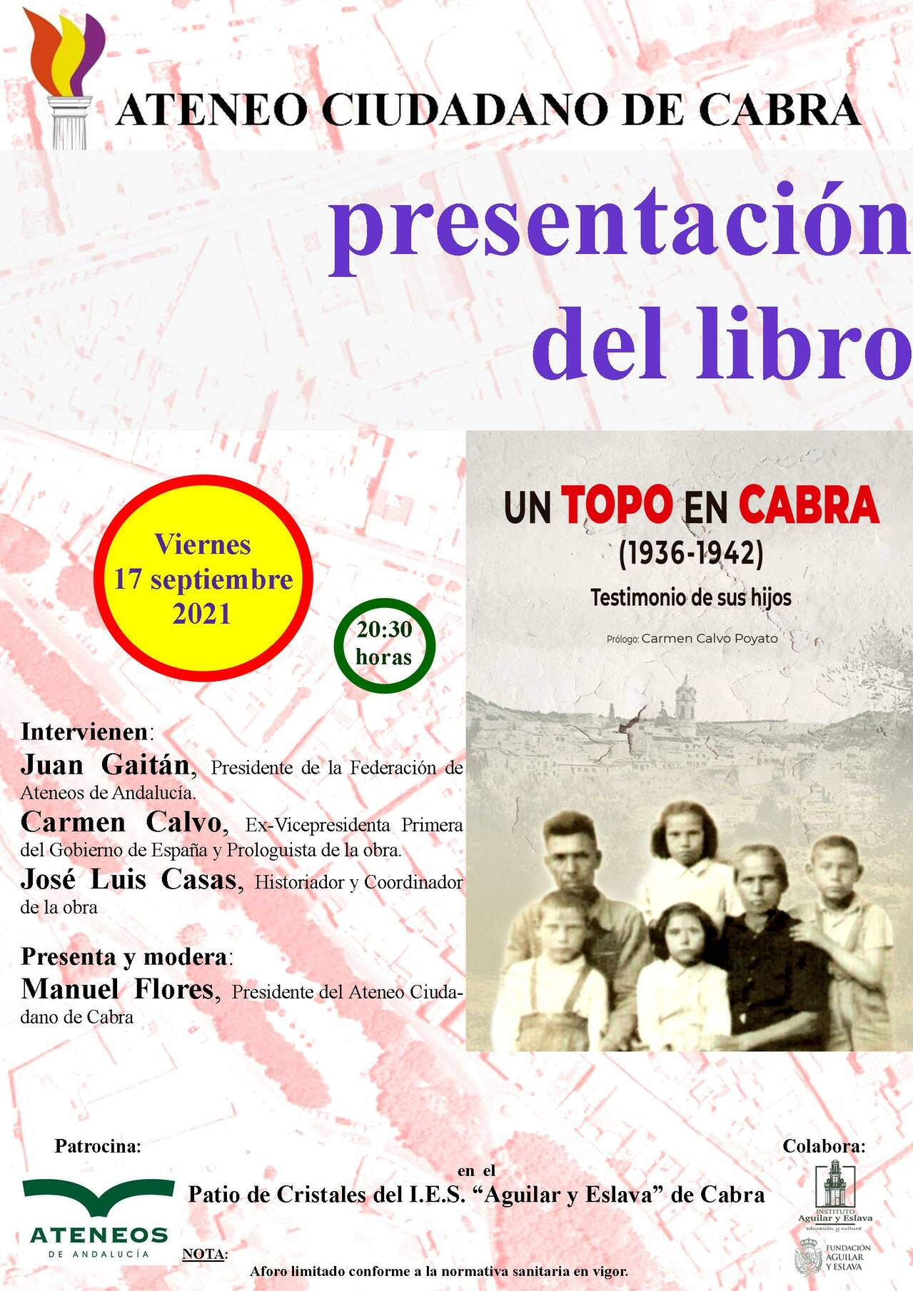 "Book presentation: ""A mole in Cabra (1936-1942). Testimony of their children"""